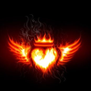Pin By Maya G On Have A Heart Heart With Wings Fire Heart Fire Crown