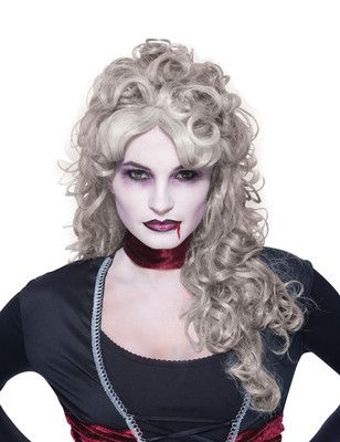 Witch Wig Gothic Bride Grey Black Zombie Halloween Ghoul Witches Fancy Dress
