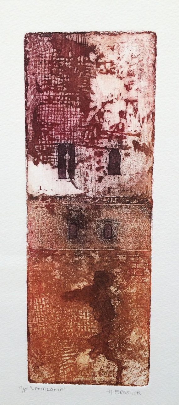 Catalonia original soft ground steel plate etching by hbprinting