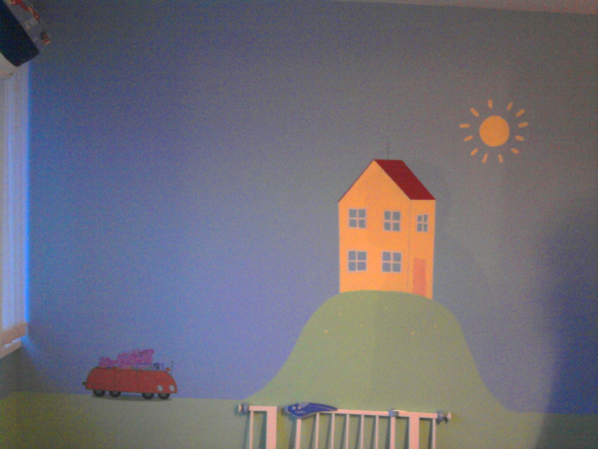Peppa Pigu0027s House Painted Using Funky Colours And Masking Tape. The Car Is  A Wall Part 58