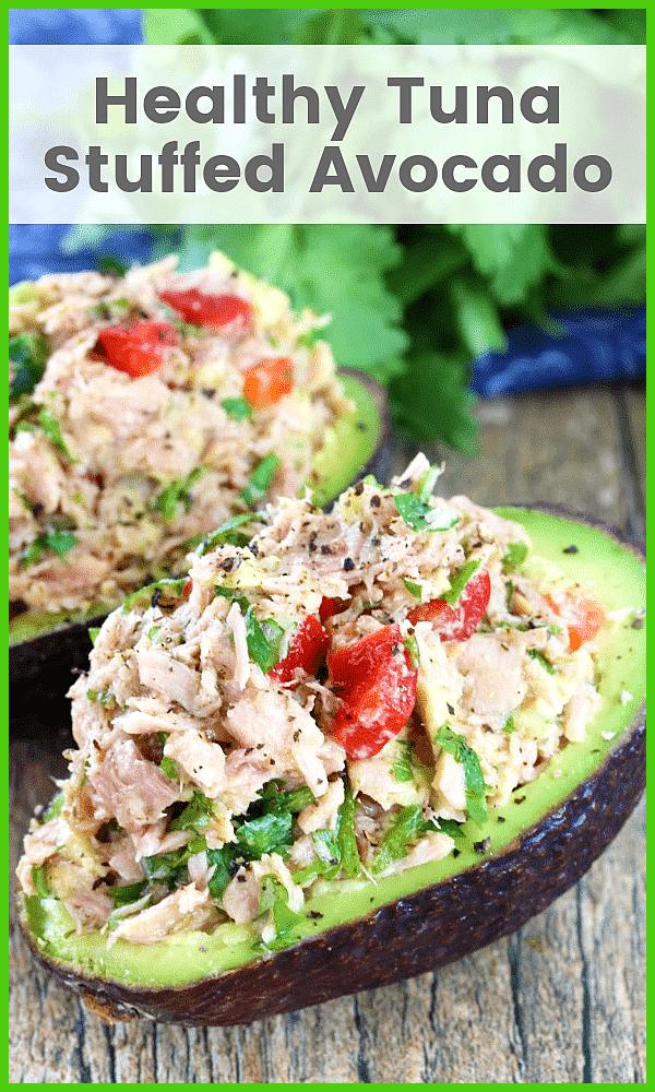 Healthy avocado stuffed with tuna Healthy avocado stuffed with tuna,