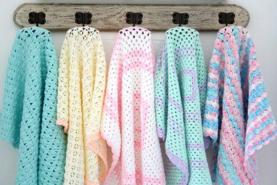 Bonito do bebê mais suave cobertor, Manta de crochê para bebê recém-nascido