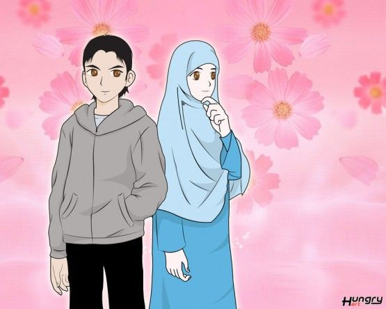 Koleksi 45  Gambar Animasi Muslimah Terkeren HD Free Downloads