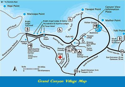 grand canyon village map | Grand Canyon | Pinterest | Grand canyon ...