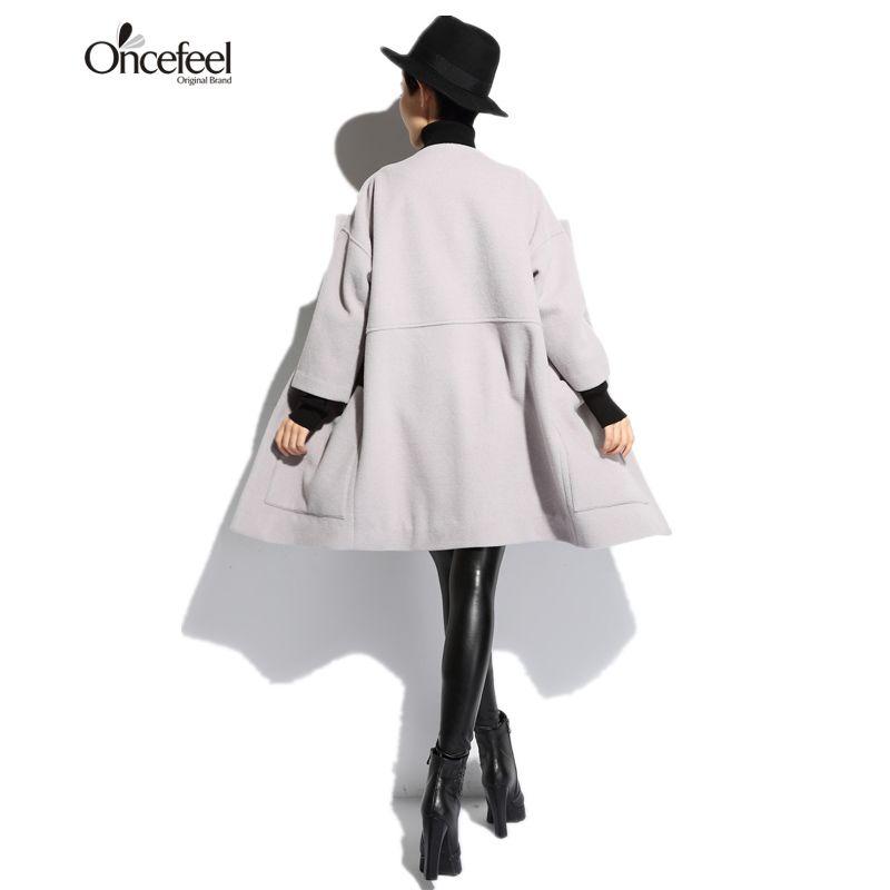 Pure color long sleeved sweater hooded jacket lady loose long hair Neqiu minimalist fashion women's boutique original coat