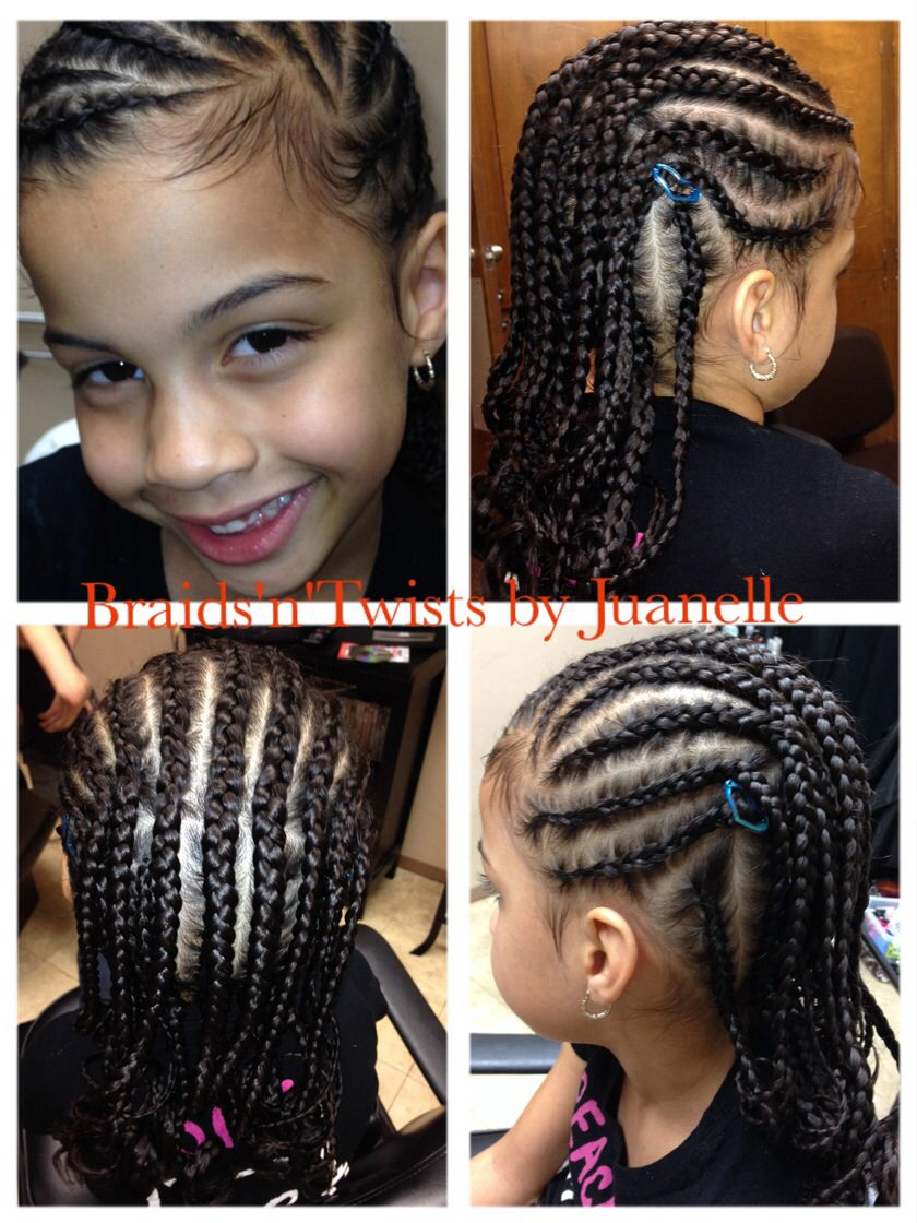 my little client: 6 years old   natural and braided