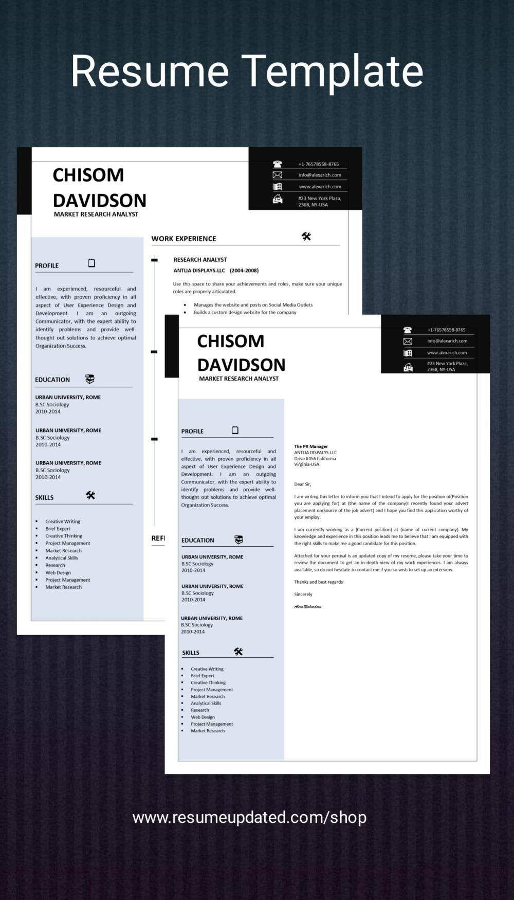 Resume Templatecv Word Professional Resume Minimalist Etsy In 2021 Cv Words Resume Template Professional Minimalist Resume