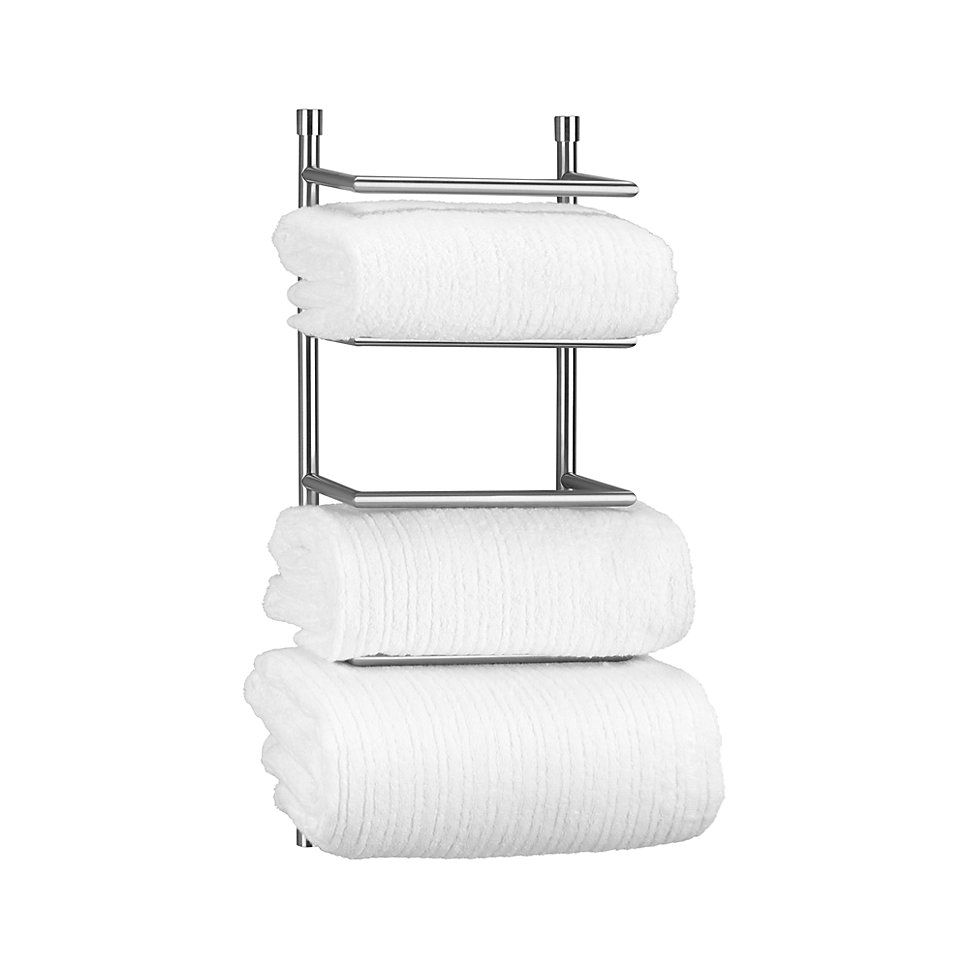 Brushed Steel Wall Mount Towel Rack Reviews Crate And Barrel Towel Rack Steel Wall Towel Rack Bathroom
