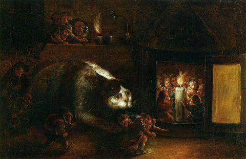 L'ASSALTO DEL GATTO  Faustino Bocchi (1659-1741)