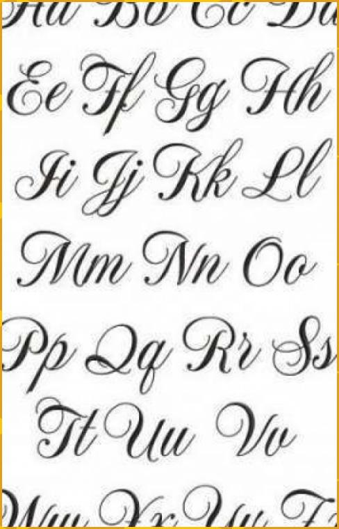 #alfabeto #de #fontes #ideias #iniciais #super #Tattoos