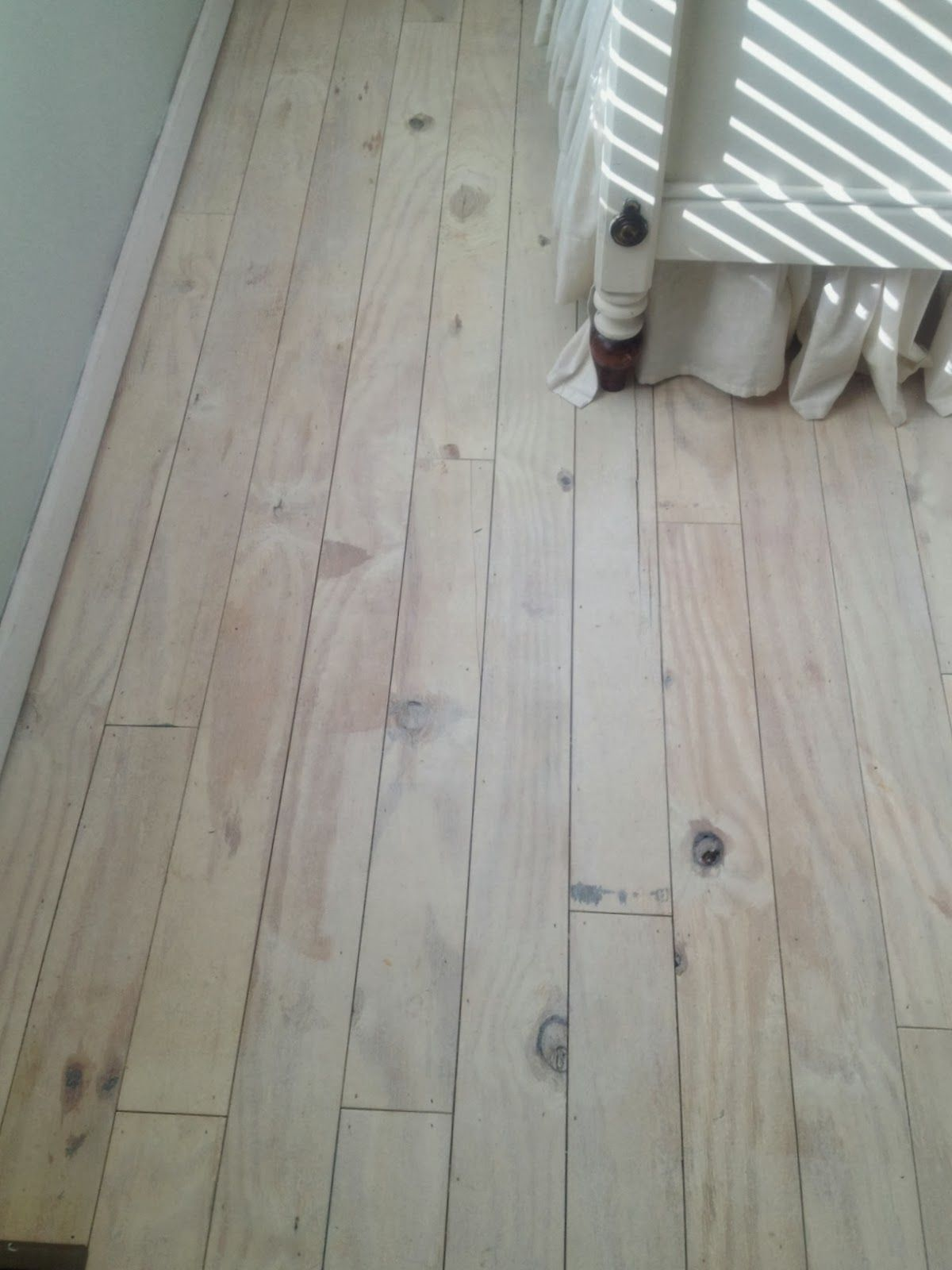 Diy Plank Floors Cut Plywood Into 4 Quot Wide Strips Glue