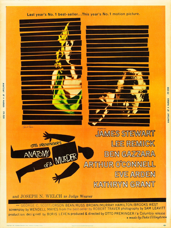 Anatomy of a Murder (1959 30x40) [2254 x 3000] - Imgur | book cover ...