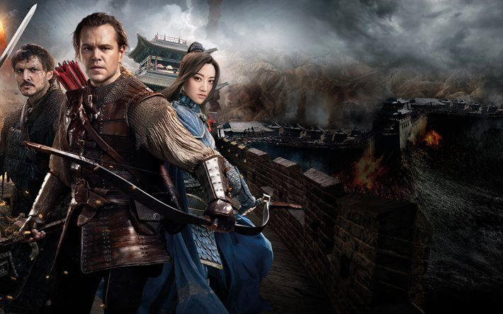 Download Wallpapers The Great Wall 2016 4k Matt Damon Pedro Pascal Jing Tian Besthqwallpapers Com The Mummy Full Movie Shot In The Dark Pedro Pascal