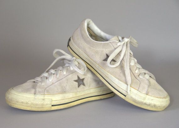 Vintage Converse One Star Made in USA Black Label White