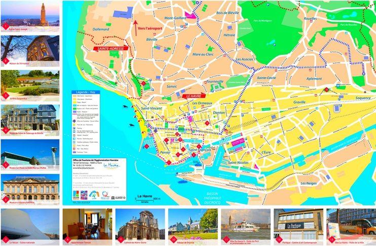 Le Havre Sightseeing Map Le Havre Sightseeing Map