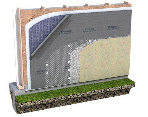 Advanced Building Products Inc 6210 Mortairvent A Rainscreen Drainage And Ventilation Mat Used Behind Masonry An Rainscreen Wood Siding Exterior Siding