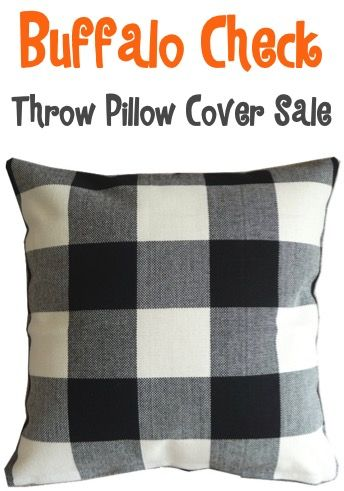 Buffalo Check Throw Pillow Cover Sale $424 + FREE Shipping!! Such