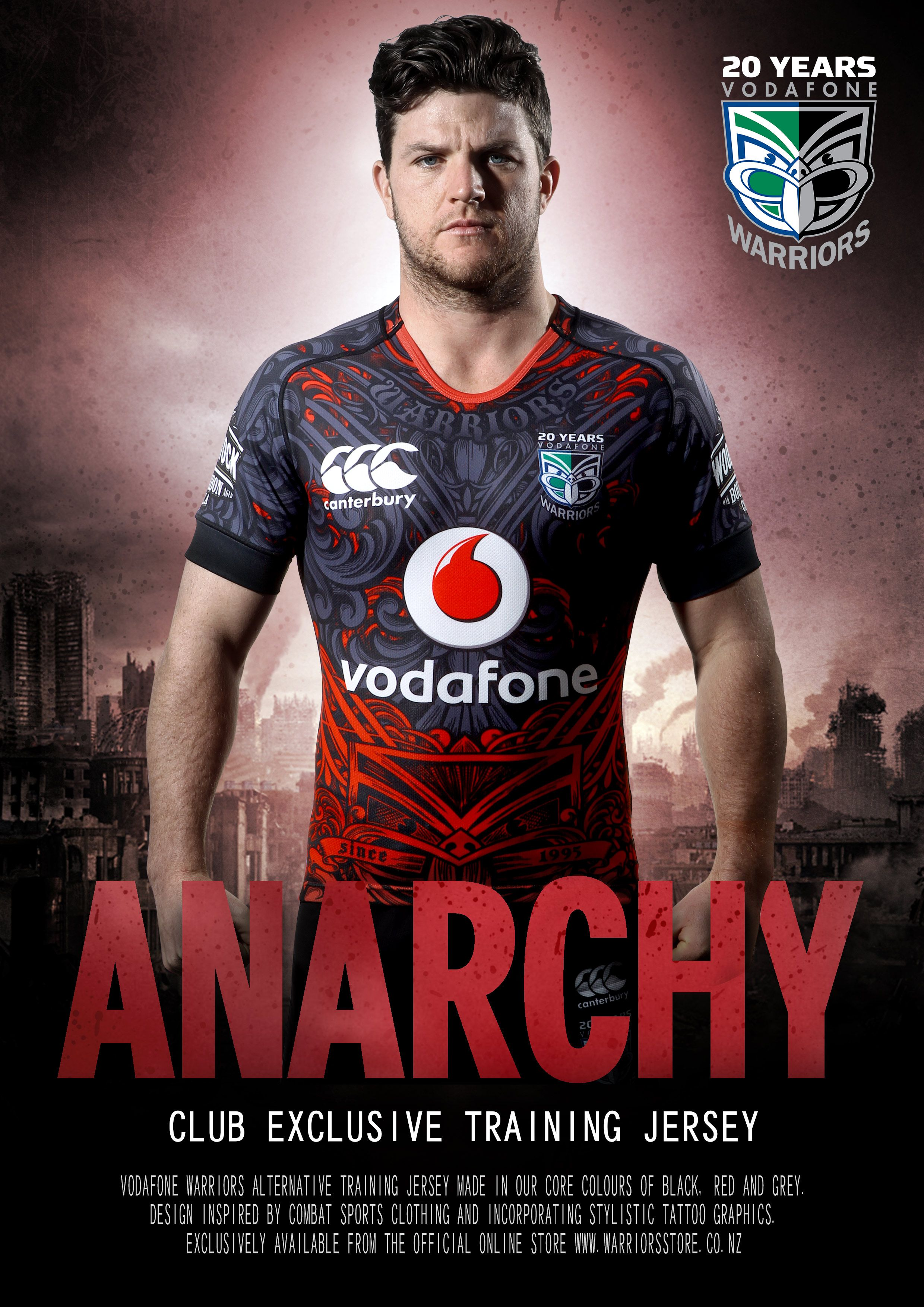 new concept eb363 e25b9 2015 Anarchy Training Jersey #WarriorsForever #NRL #Jersey ...