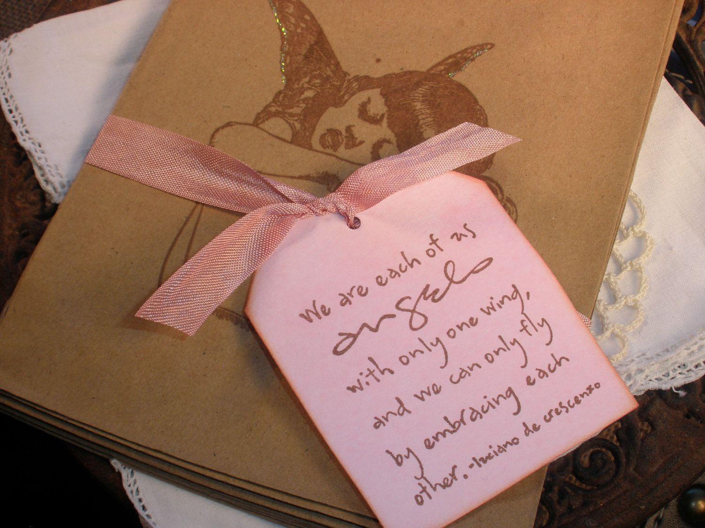 Little Girl Angel Wing Kraft Brown Paper Favor Bags Set of 8 ...