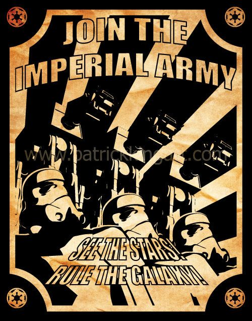 Star Wars Imperial Army Recruitment Poster Art Print Propaganda