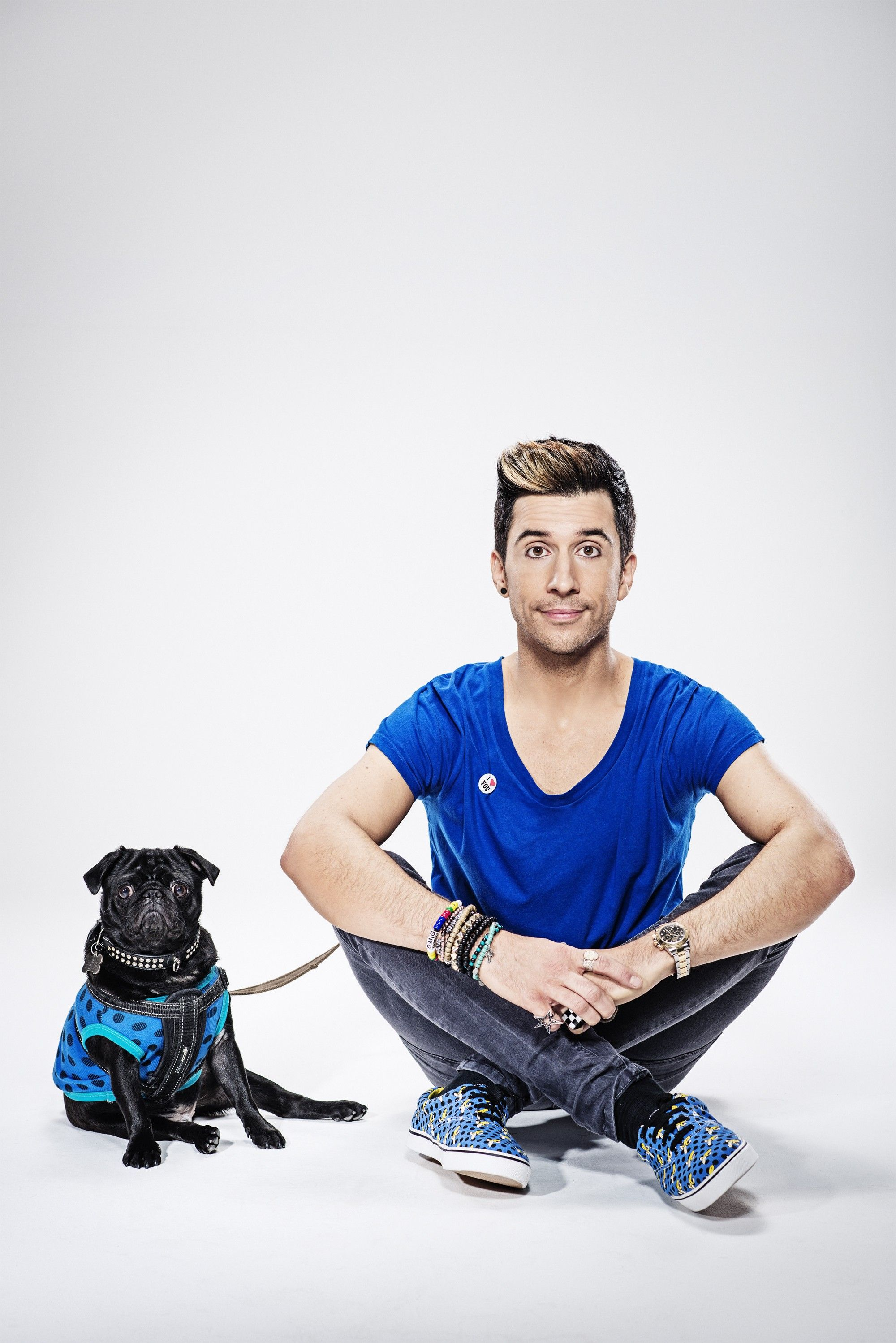 COMEDIAN RUSSELL KANE & HIS PUG CAPTAIN COLIN