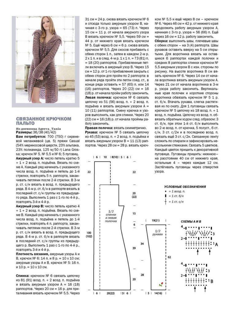узоры весеннее пальто вязанное крючком фото и схемы заведениях