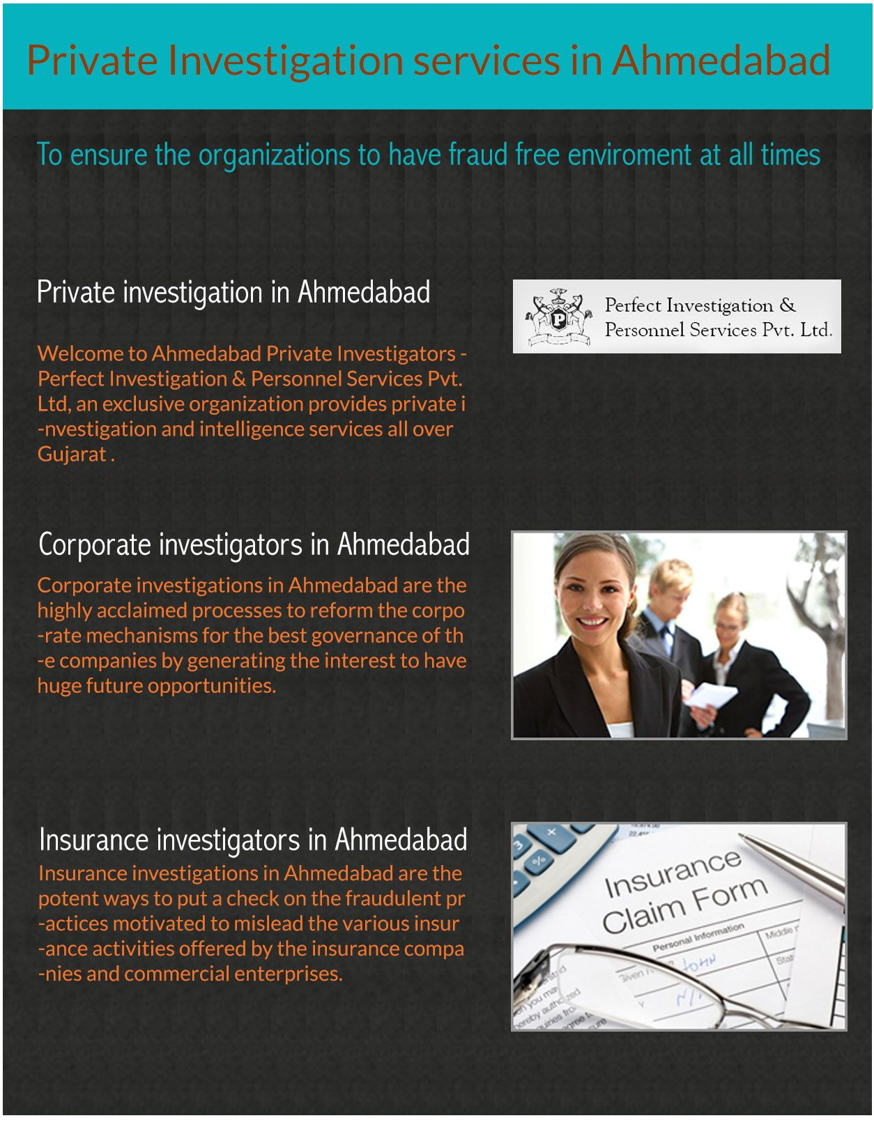 Private Investigator In Ahmedabad Insurance And Corporate