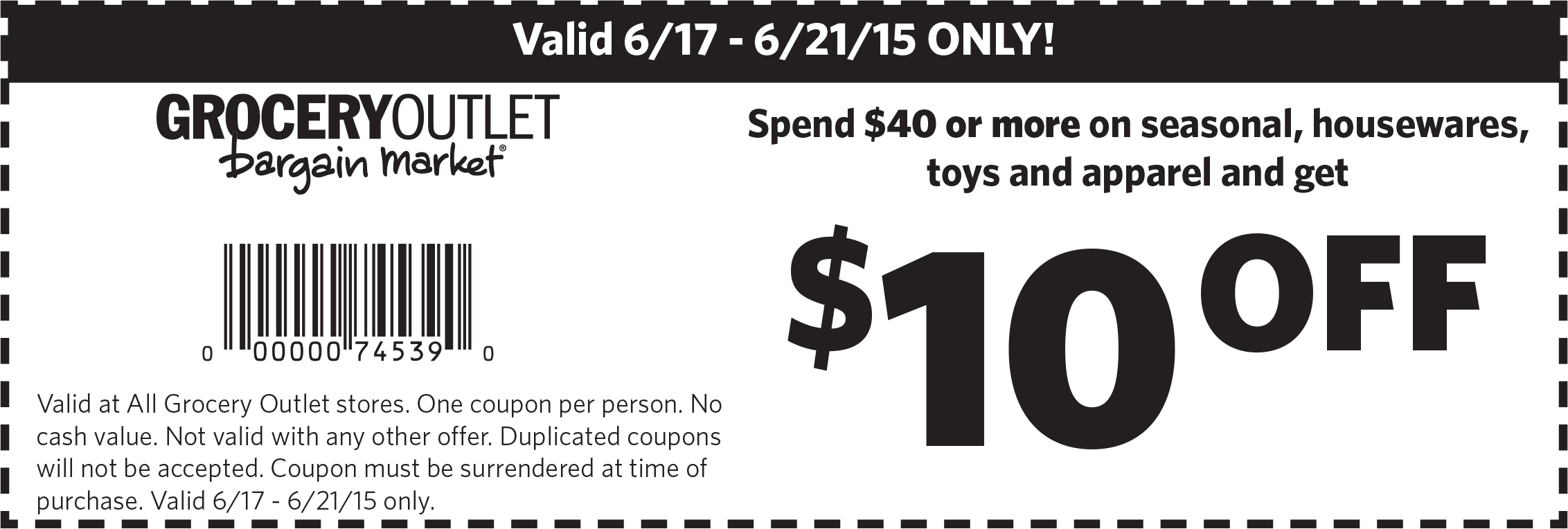Pinned June 18th 10 Off 40 At Grocery Outlet Bargain Markets Coupon Via The Coupons App