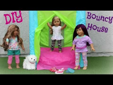 Doll Bounce Castle Diy American Girl Doll Crafts Youtube