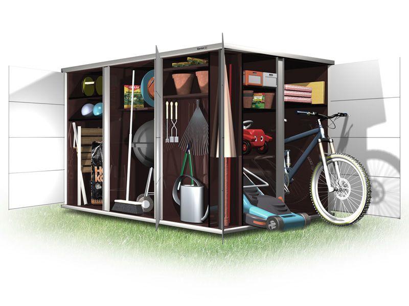 Gartenhaus mit Flachdach auch für Fahrräder Gartenhaus