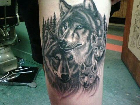 Wolf Family Wolf Tattoos Couples Wolf Tattoos Tribal Wolf Tattoo