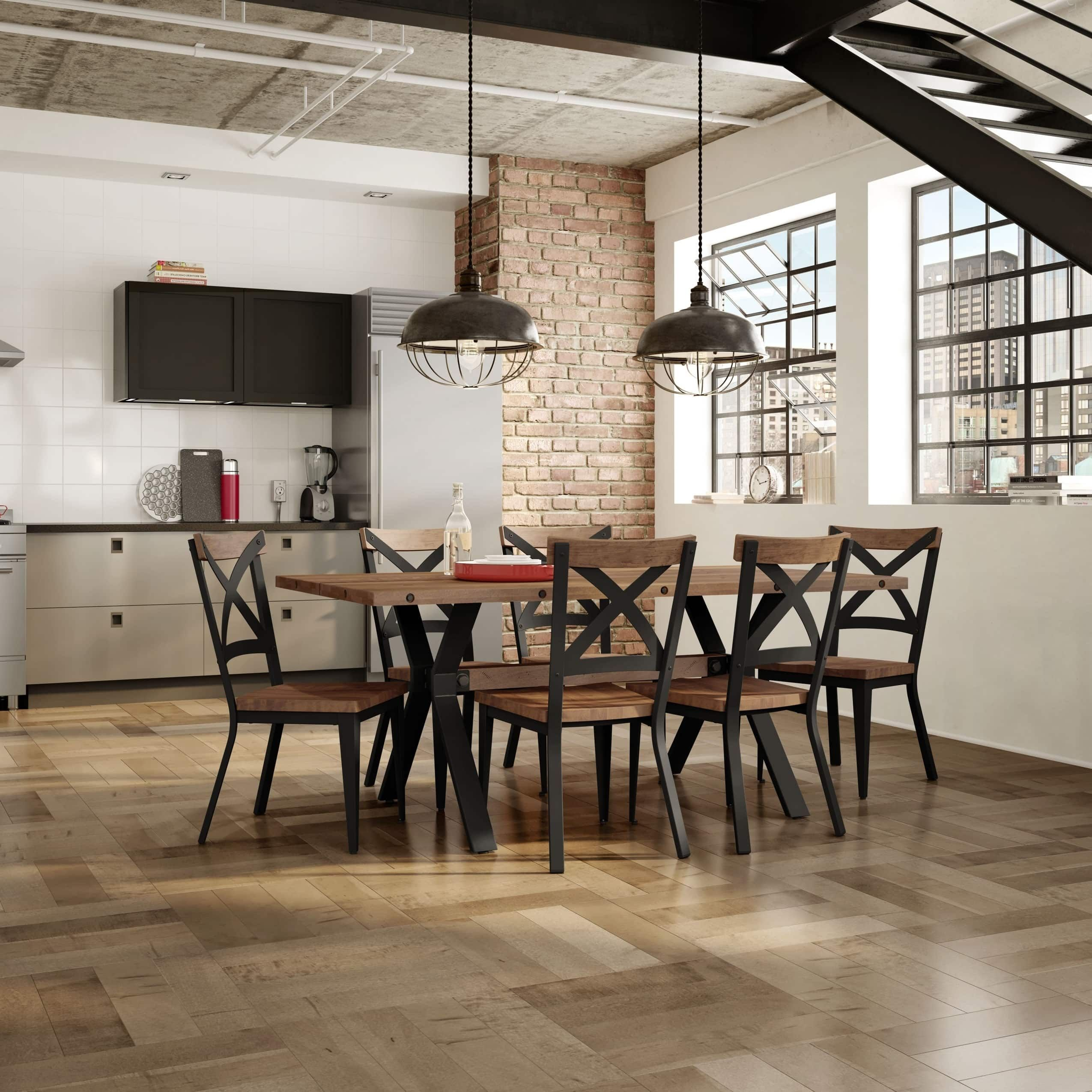 Natural Wood with Black | Dining room bar, Solid wood ...