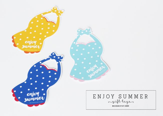 Free printable enjoy summer gift tags free printables digital free printable enjoy summer gift tags negle
