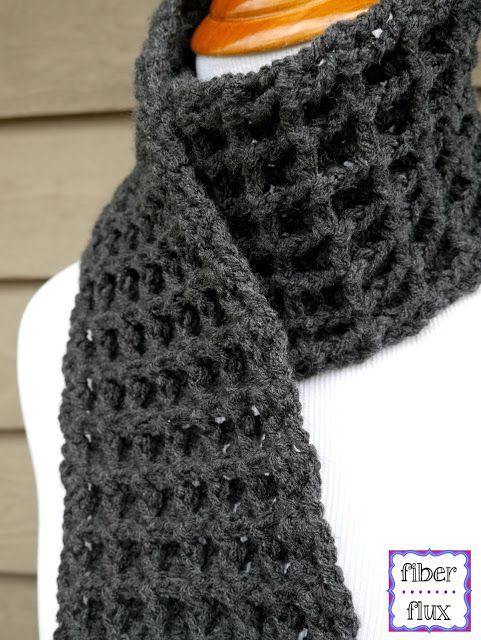Free Crochet Patternwaffle Stitch Crochet Scarf Scarves