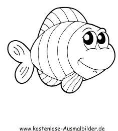 Ausmalbild Fisch 1055 Malvorlage Fische Ausmalbilder Kostenlos