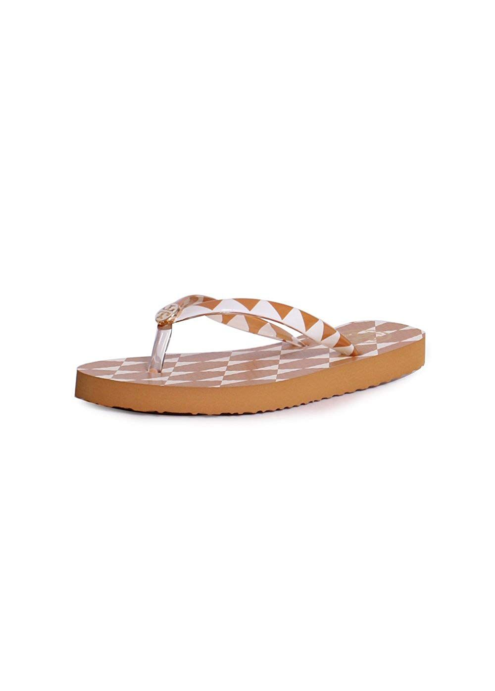 29bc0263f3a93 Tory Burch Thin Printed Flip Flop Sandals in Gold Diamond -- Very ...