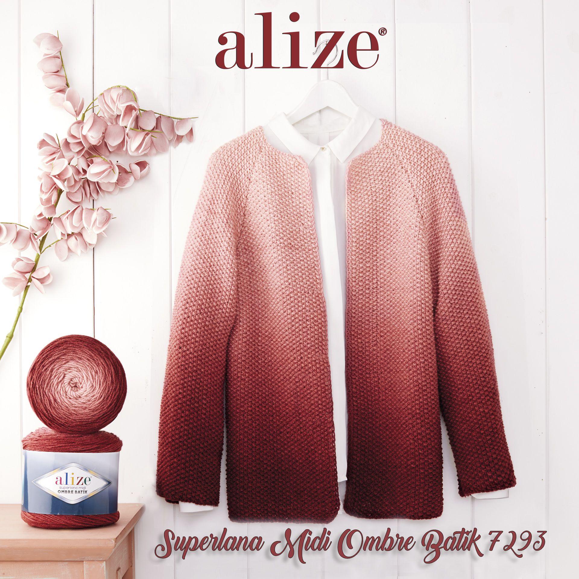 Alize Superlana Midi Ombre Batik Cardigan, 2020