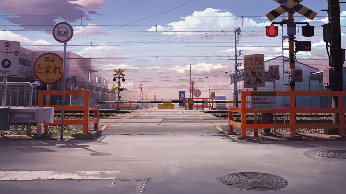 Right Places Short Animation On Behance Anime Scenery Wallpaper Anime Scenery Anime City