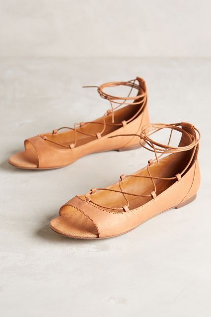 Miss Albright Corset-Laced Flats - anthropologie.eu