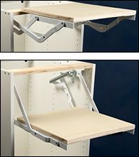 If I decide to hide my Cuisinart Stand Mixer to save counter space?  Appliance Lifter Brackets - Lee Valley Tools $109