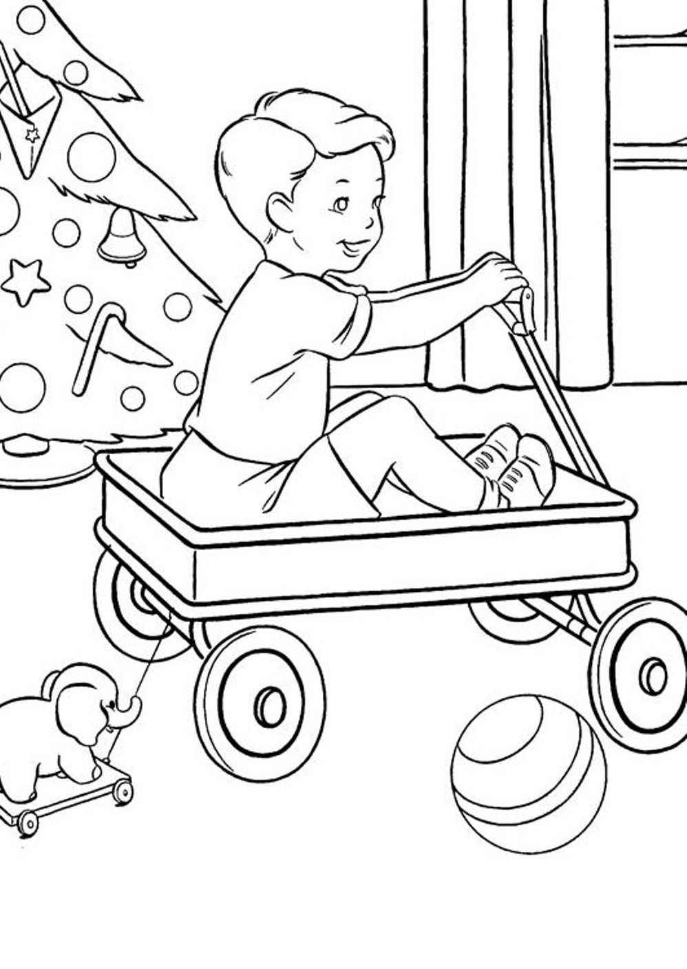 Christmas Present Coloring Sheets : Presents Candle And Christmas ...