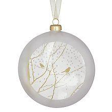 Räder Weihnachtskugeln.Buy Rader Snowy Branches Bauble White Online At Johnlewis Com
