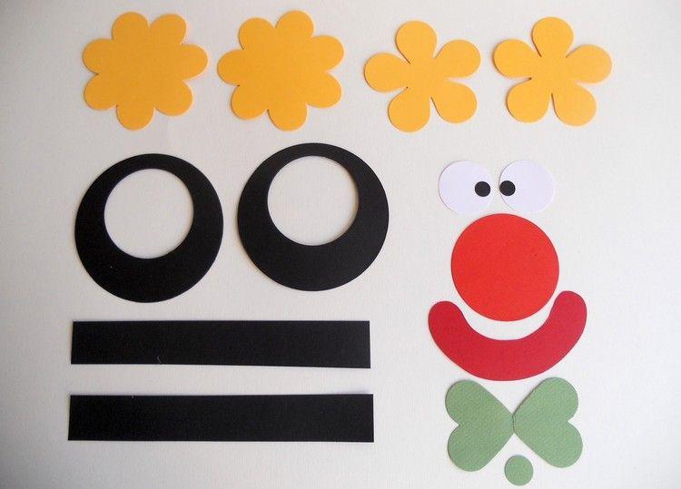 Fasching Basteln Vorlagen clown basteln vorlagen kindergarten bastelideen fasching fasching