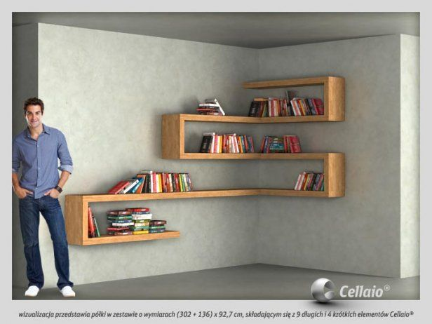 Opci n que repisas usen ambas paredes muebles - Esquineros para paredes ...