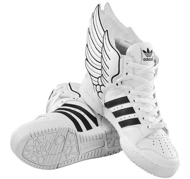 Black · Jeremy Scott Black and White Winged Adidas ...