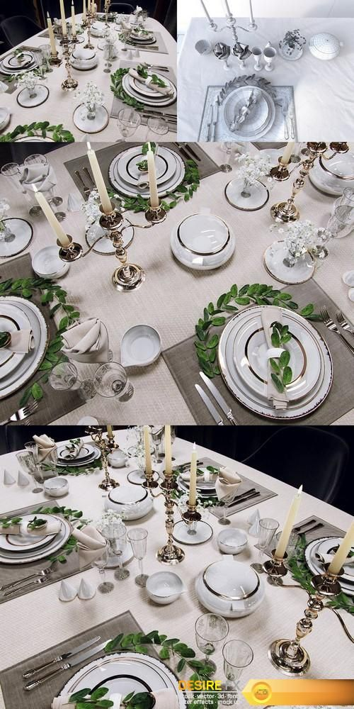 Tableware Collection 3D Models    http://www.desirefx.me/tableware-collection-3d-models/