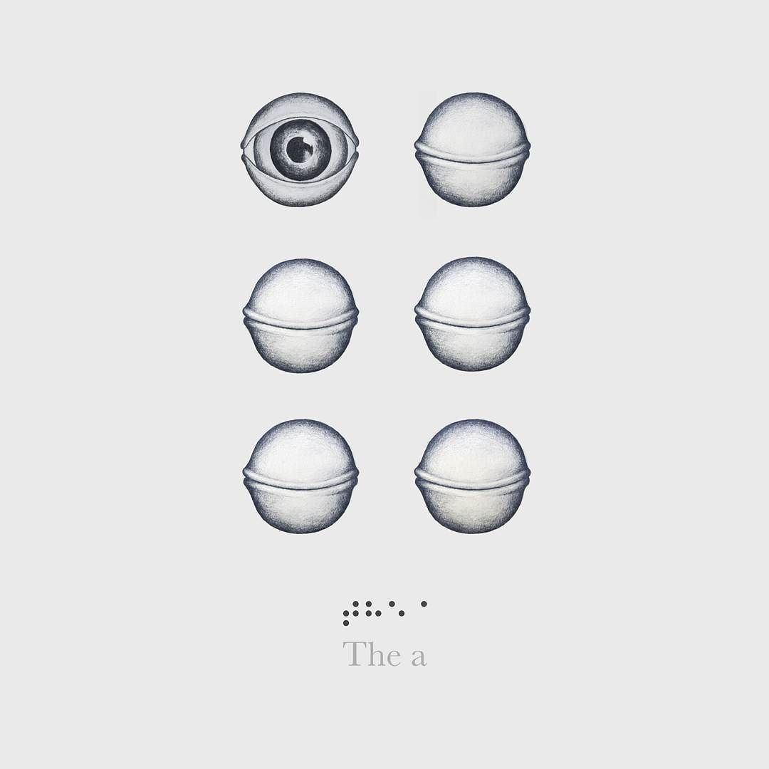 On instagram by sergidolcet  #braille #doitbraille (o)  http://ift.tt/1mLOIze  The A. #36daysoftype #a #design  #eye #touch #art #illustration #typography #lettering #gray #graphic #graphicdesign #idepbarcelona