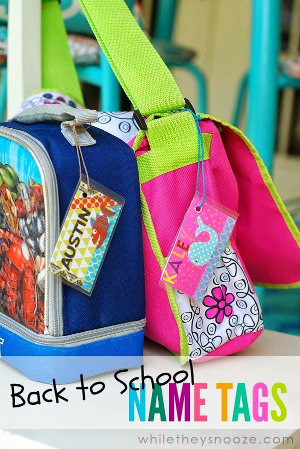 61e5bd63d69b DIY Back to School Name Tags | Teacher Gifts & School DIY | Name tag ...