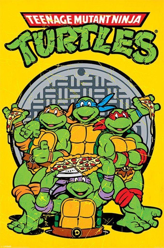 80/'s Vintage Eighties Cartoon Poster TMNT TURTLES Poster 09 24 inch X 36 inch