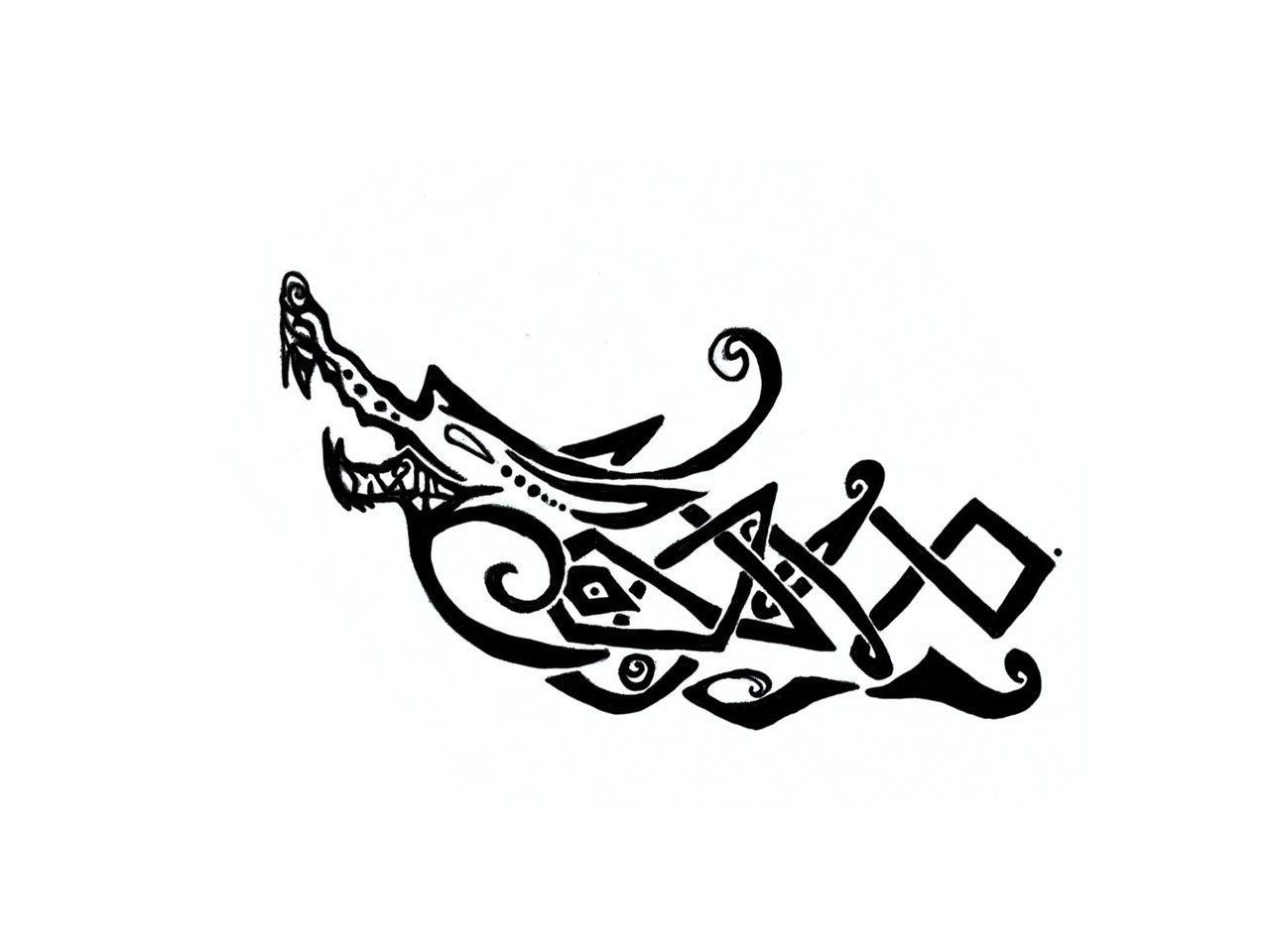 Viking Longship Tattoo Design